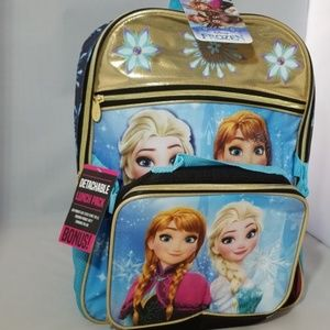 Disney girl's frozen backpack w lunch pack. NEW